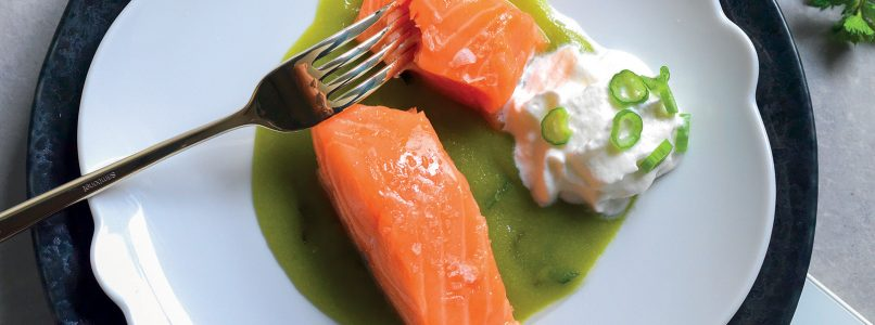 Salmon, celery and mousse recipe