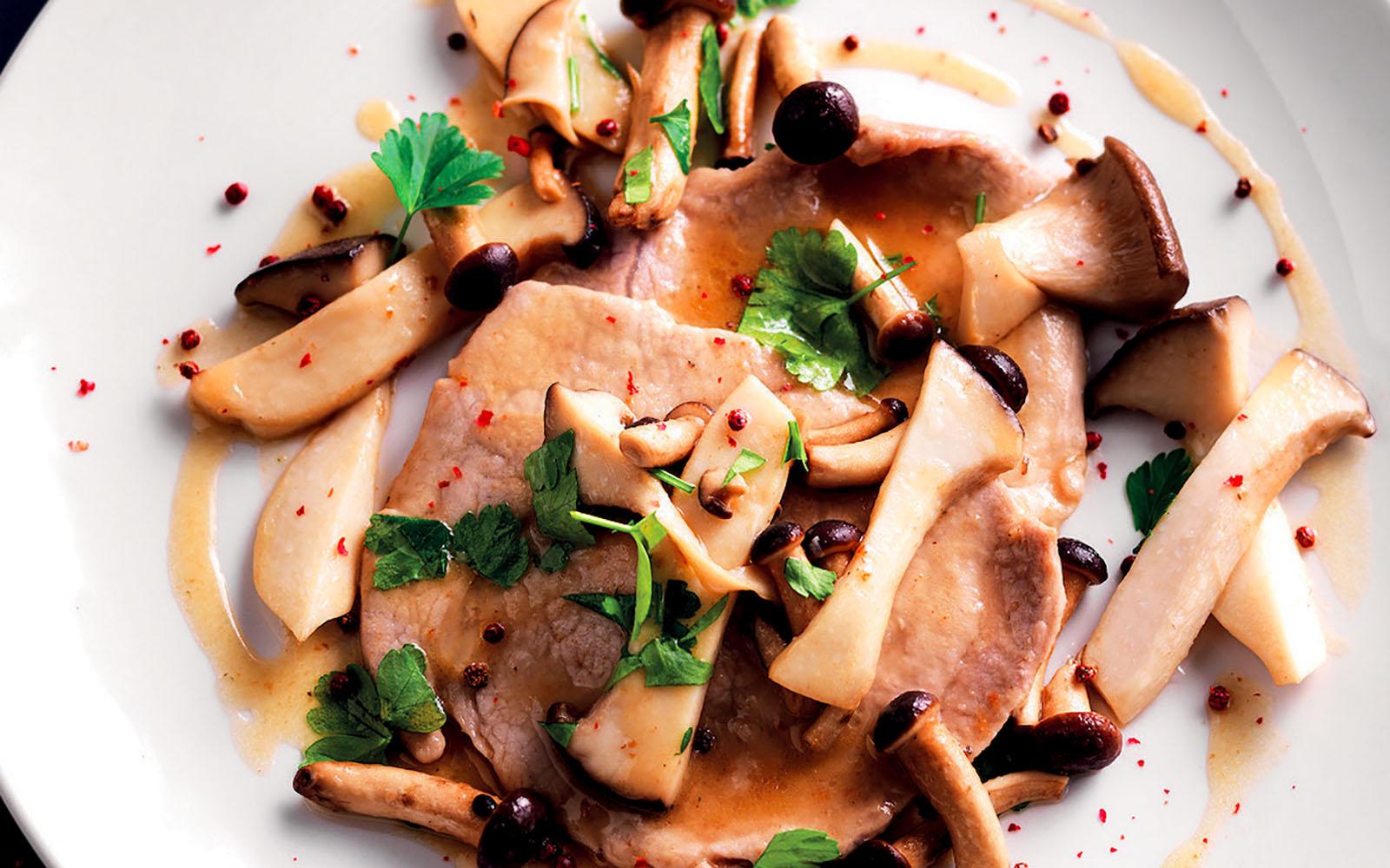 Scaloppine recipe with mushrooms