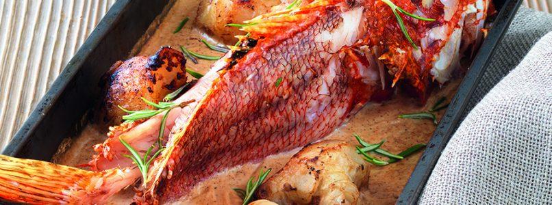 Scorpion fish recipe with Jerusalem artichoke and almond milk