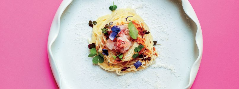 Shrimp and coconut spaghettini recipe