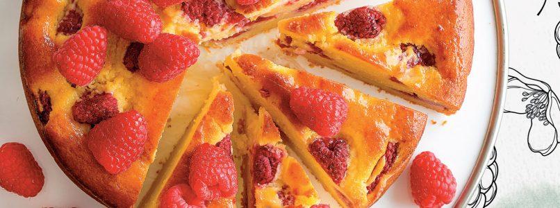 Soft ricotta and raspberry cake recipe