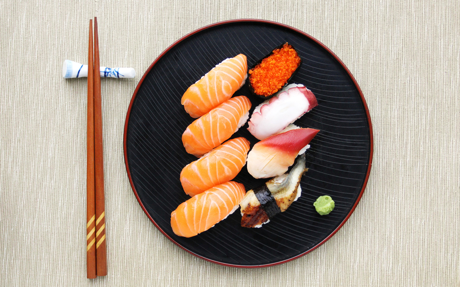 Ten rules (and some notions) for not overdoing sushi