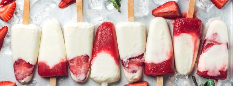 The fruit ice-cream to be made at home without milk