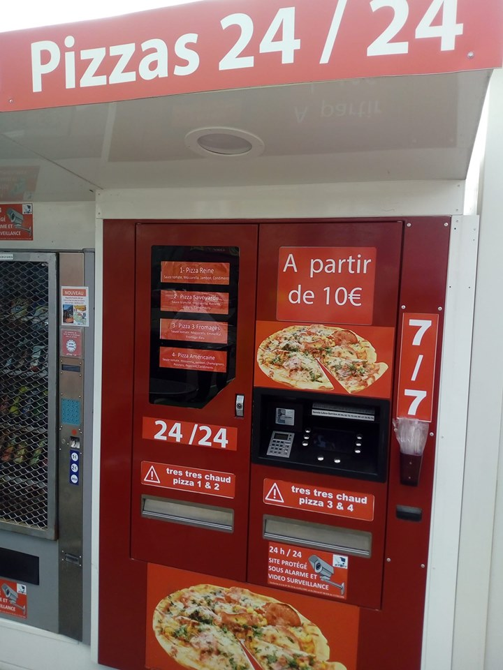Automatic pizza dispenser in France @Facebook.