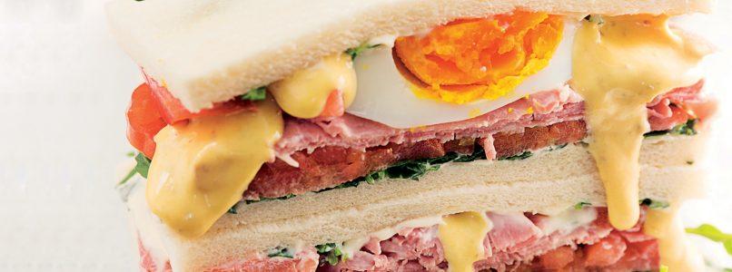 Tuna sauce recipe in Prague ham double sandwich
