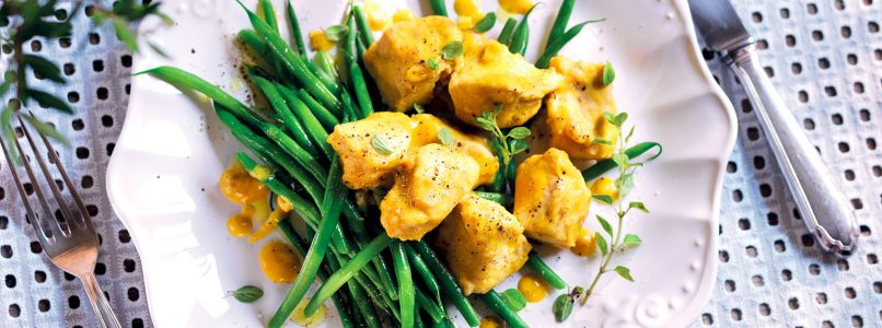 Turkey Fricassee Recipe with Green Beans
