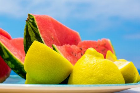 Watermelon with lemon: it's a great idea