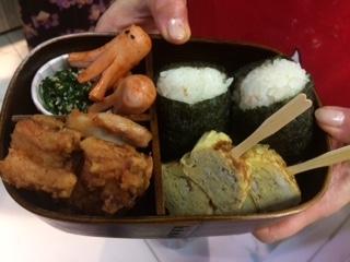 We prepare the Bento box, the schiscetta in the Japanese version