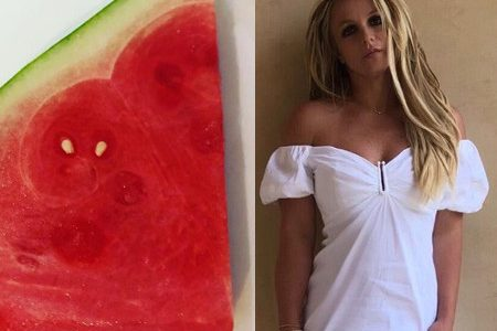 Why did Britney Spears post a photo of a salt watermelon?