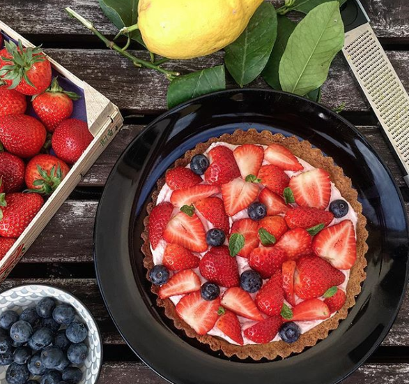 With your strawberry tarts it's spring
