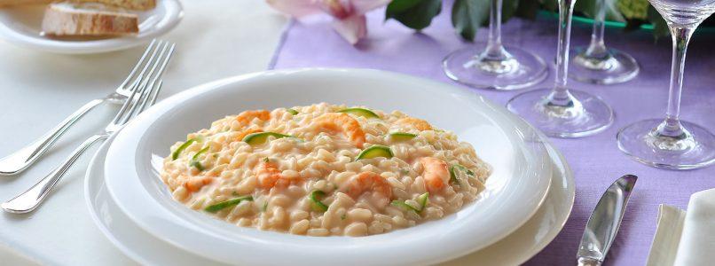 Zucchini and shrimp risotto, all the ideas