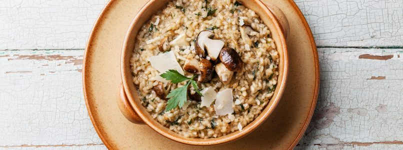 the recipe for risotto with porcini mushrooms