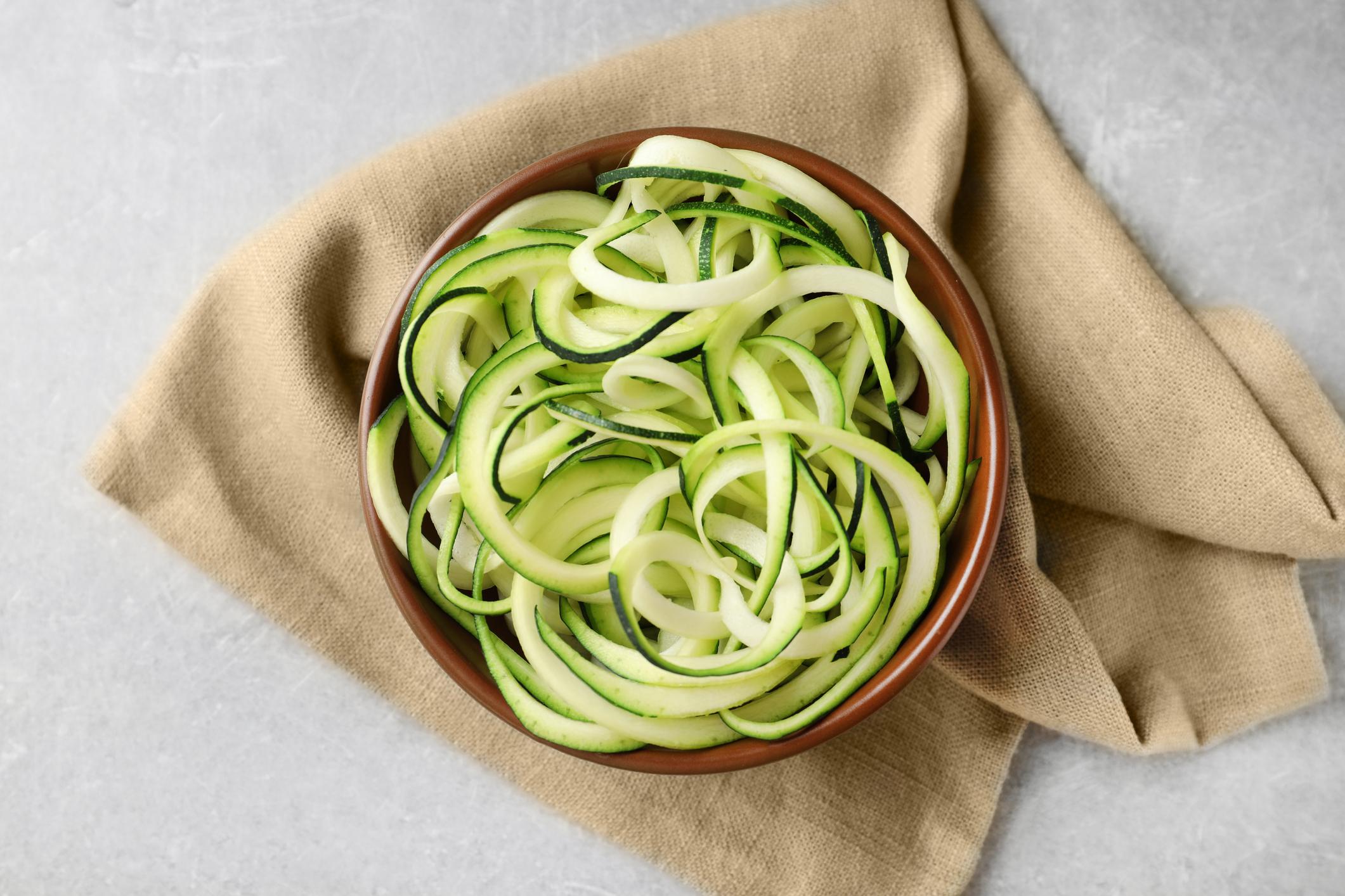 Zucchini spaghetti.